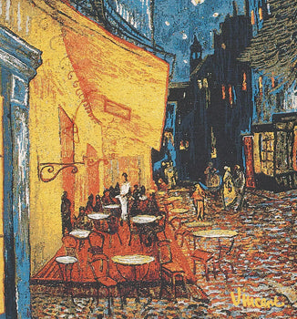 Cafe Terrace At Night, A, 18x18(Cushion Cover