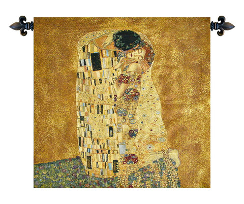 The Kiss by Klimt Italian Wall Tapestry - Tapestry Zest