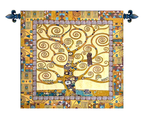 Tree of Life by Gustav Klimt Italian Wall Tapestry - Tapestry Zest