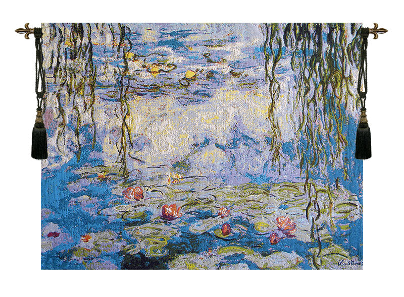 Water Lilies Les Nympheas European Wall Tapestry - Tapestry Zest