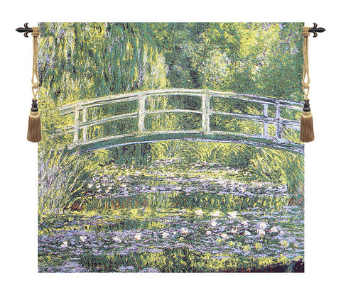 Bridge At Giverny by Monet European Wall Tapestry - Tapestry Zest