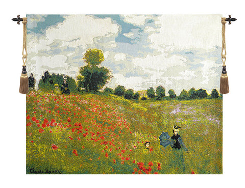 Poppies by Monet European Wall Tapestry - Tapestry Zest