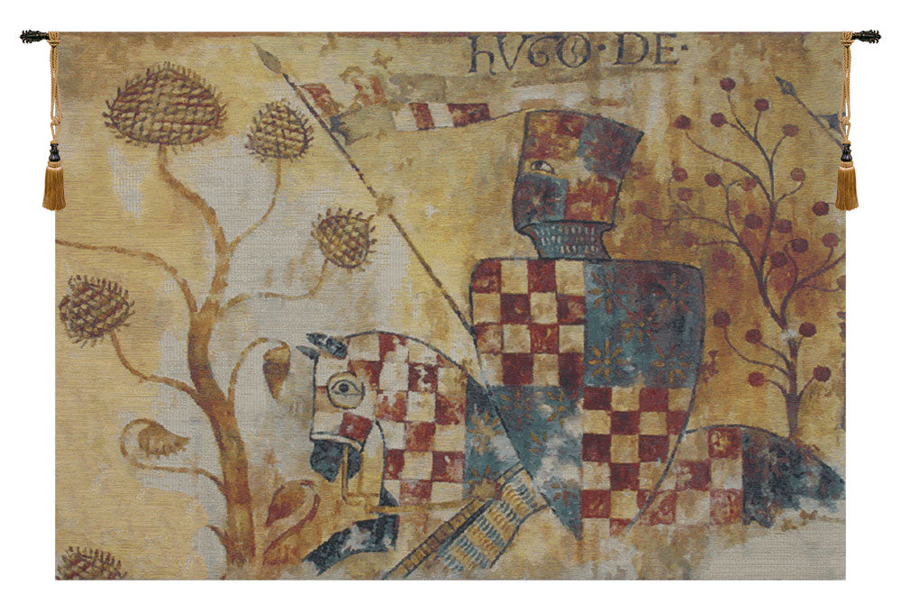 Chevaliers Right Panel European Wall Tapestry - Tapestry Zest