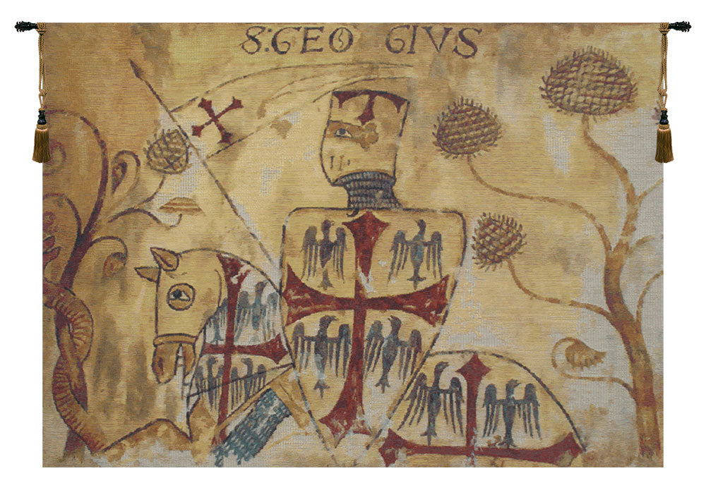 Chevaliers Left Panel European Wall Tapestry - Tapestry Zest