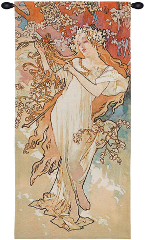 Spring Mucha European Wall Tapestry - Tapestry Zest
