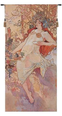 Autumn Mucha European Wall Tapestry - Tapestry Zest