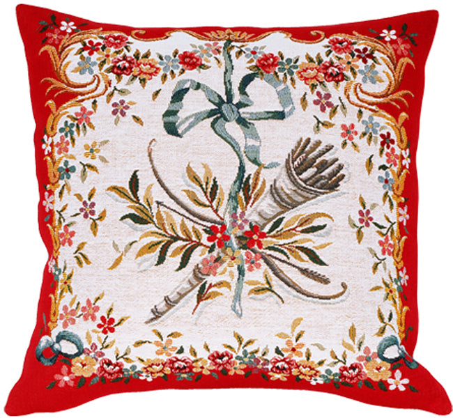 "Diane Rouge French Cushion, 18""x18, Cushion Cover"