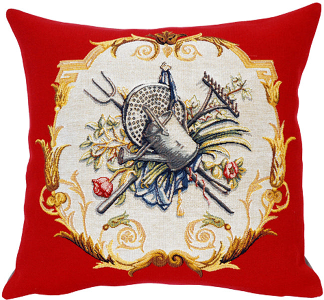 "Arrosoir French Cushion, 18""x18, Cushion Cover"