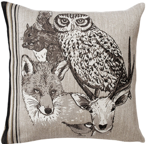 Forest Spirit Hibou French Cushion Cover