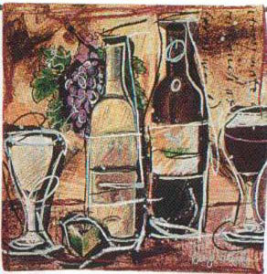 Wine and Cheese Decorative Wall Tapestry - Tapestry Zest