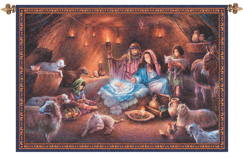 No Room at the Inn Fine Art Tapestry - Tapestry Zest