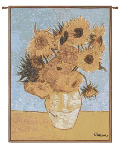 Van Gogh Sunflowers French Tapestry - Tapestry Zest