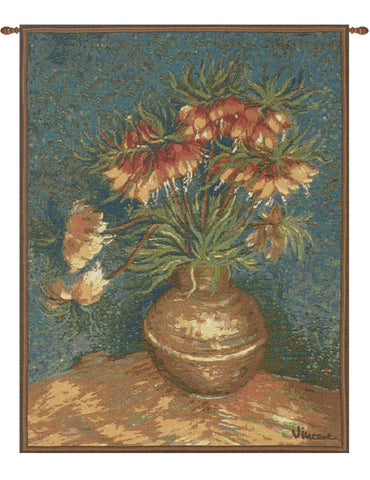 Van Gogh Lilies French Tapestry - Tapestry Zest