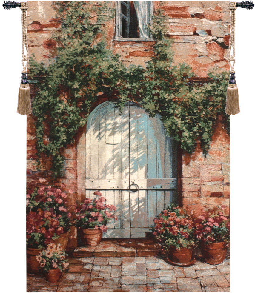 Wooden Doorway Decorative Wall Tapestry - Tapestry Zest