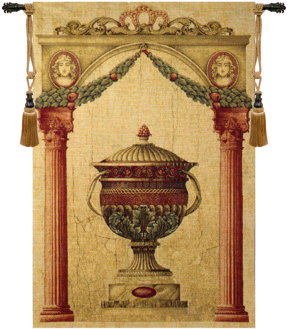 Old Urn Belgian Art Tapestry Wall Hanging – Tapestry Zest