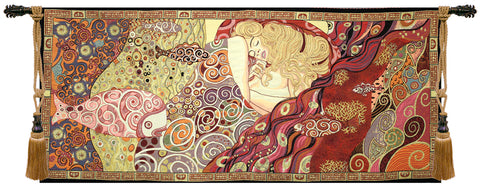 Danae Sleeping Goddess Large Wall Tapestry - Tapestry Zest