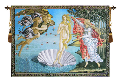 Birth of Venus Italian Wall Tapestry - Tapestry Zest