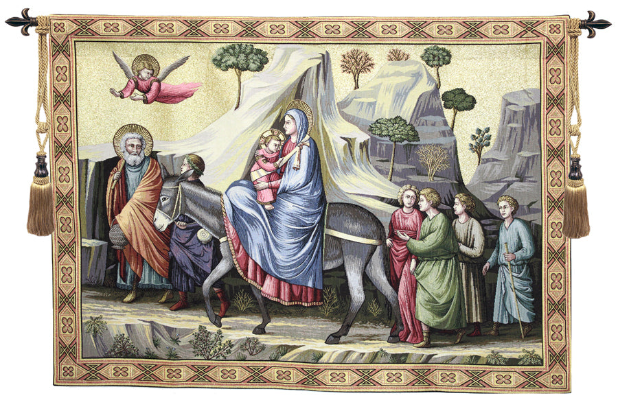 Flight into Egypt Italian Wall Tapestry - Tapestry Zest