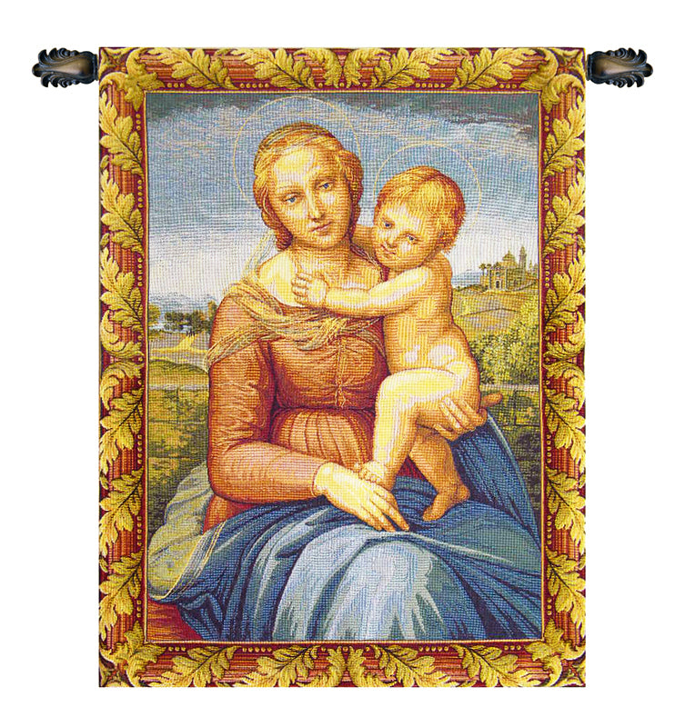 Cowper Madonna by Raphael Italian Tapestry - Tapestry Zest