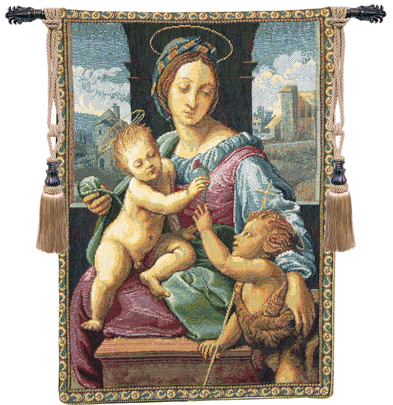 Madonna Aldobrandini by Raphael Italian Wall Tapestry - Tapestry Zest