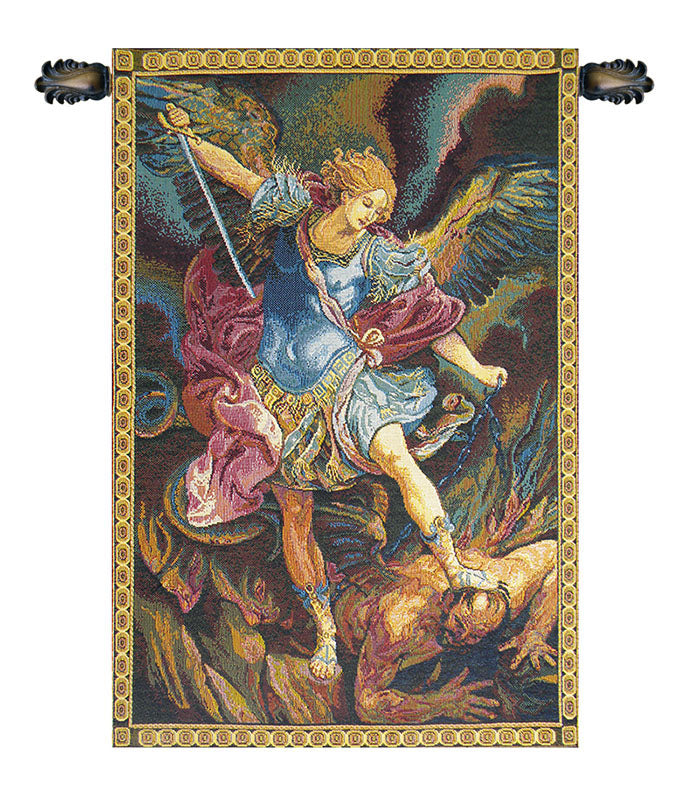 St. Michael Italian Wall Tapestry - Tapestry Zest