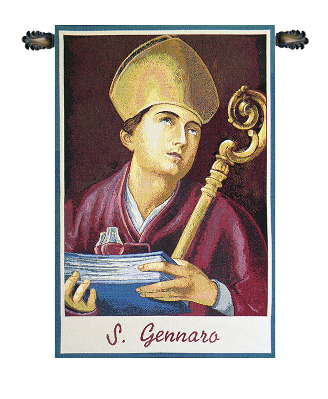 St. Gennaro Italian Wall Tapestry - Tapestry Zest
