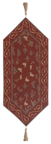 Medieval Rabbit French Table Runner - Tapestry Zest