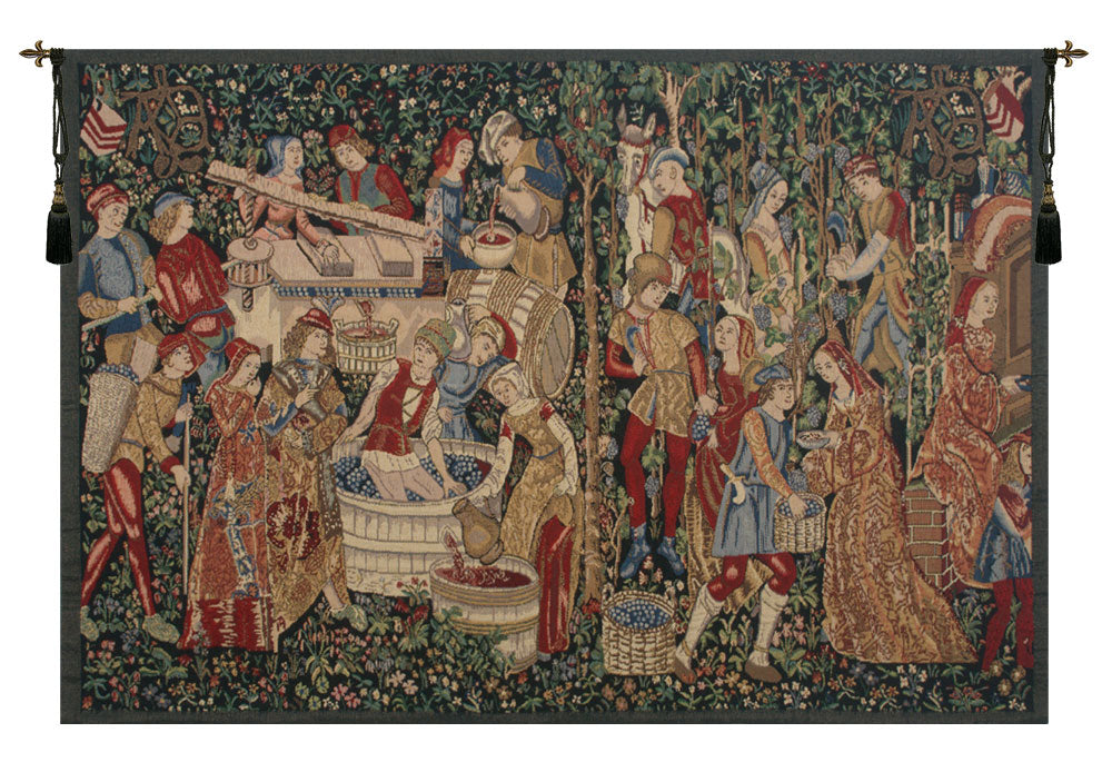 "Vendages Red Tapestry, 42""x70"""