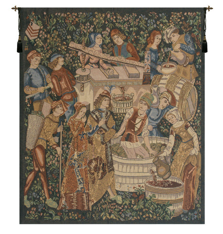 Vendanges, Left Side (Rust) Tapestry - Tapestry Zest