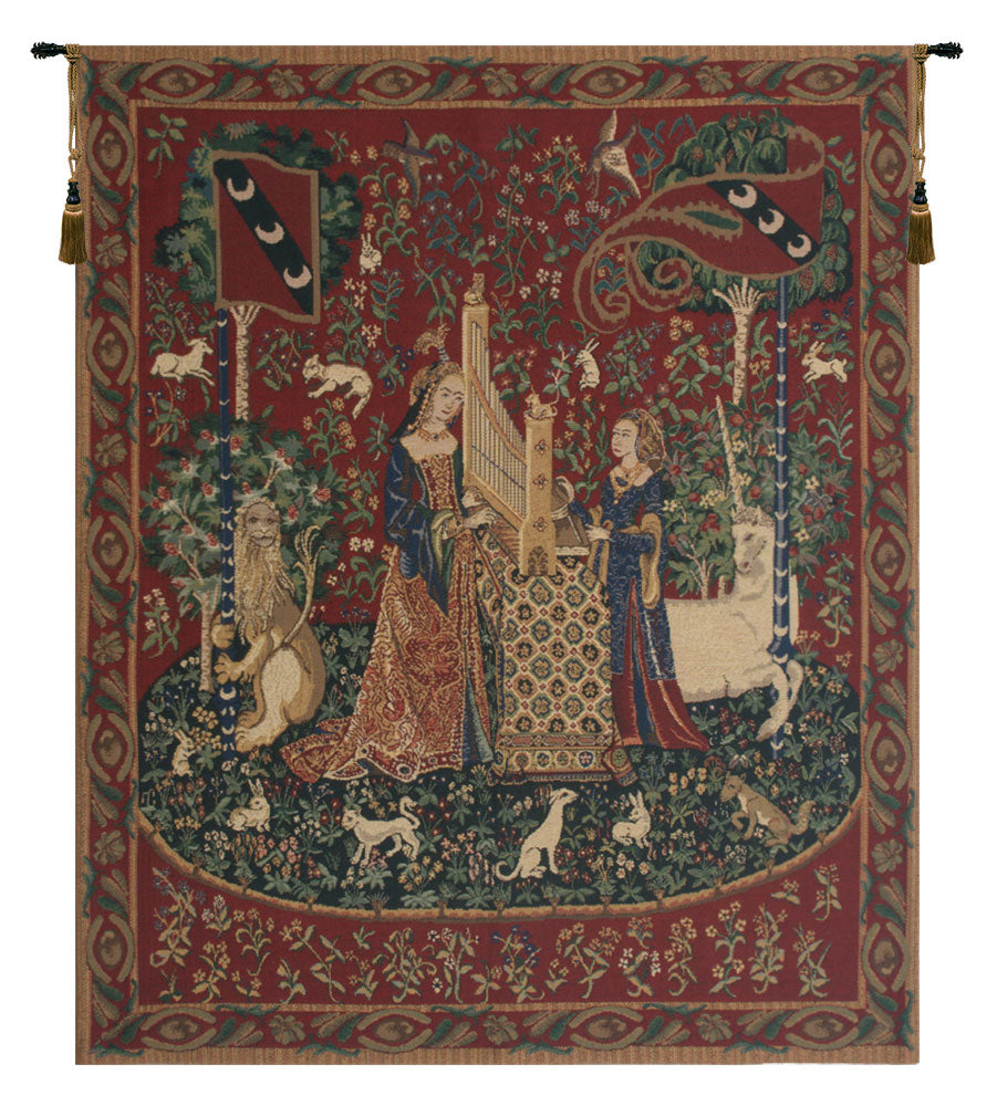 Lady and the Organ Wall Tapestry - Tapestry Zest
