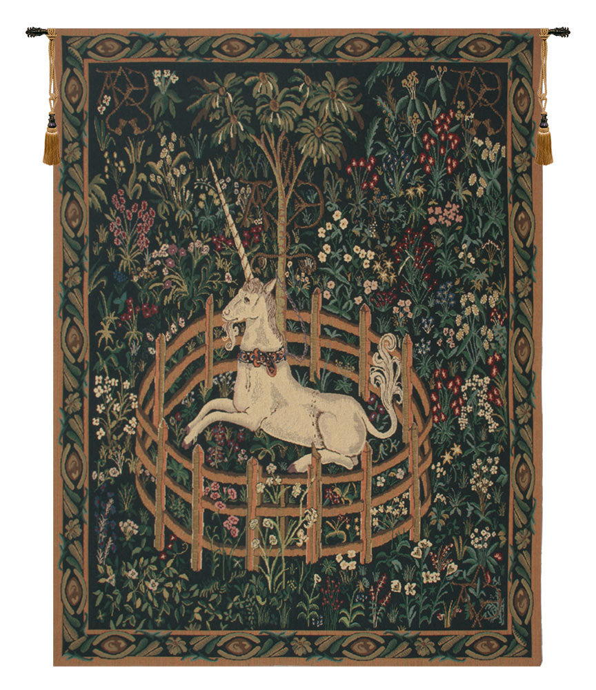 Unicorn In Captivity with Border Tapestry - Tapestry Zest