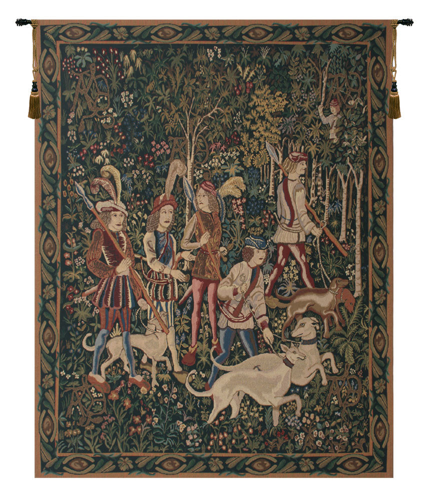 Unicorn Hunt with Border Tapestry - Tapestry Zest