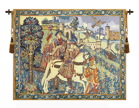 Falcon Hunt Beligan Tapestry - Tapestry Zest