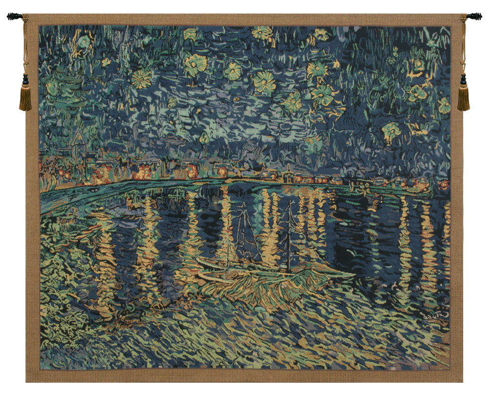 Van Gogh's Starry Night Over the Rhone Tapestry