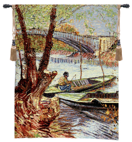 Van Gogh Fishing in the Spring Tapestry - Tapestry Zest