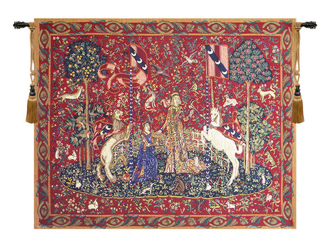 Lady and the Unicorn Taste Wall Tapestry - Tapestry Zest