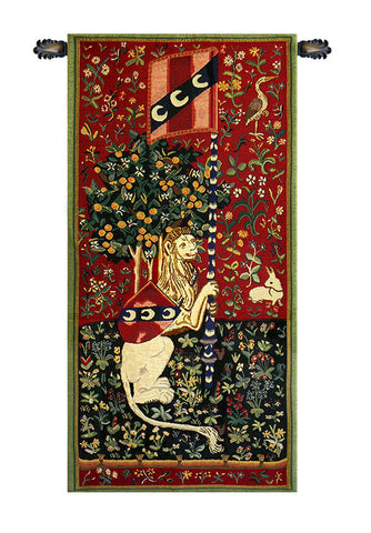 Lady and the Unicorn Portiere du Lion Tapestry - Tapestry Zest