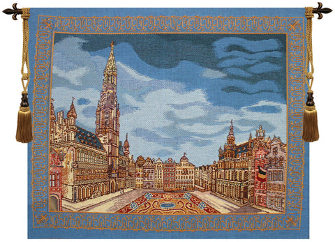 "Brussels Place Bleu Tapestry, 37""x44"""