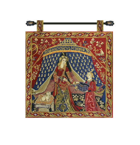 Seul Desire Lady and the Unicorn Wall Tapestry - Tapestry Zest