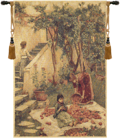 The Orange Gatherers Belgian Wall Tapestry - Tapestry Zest