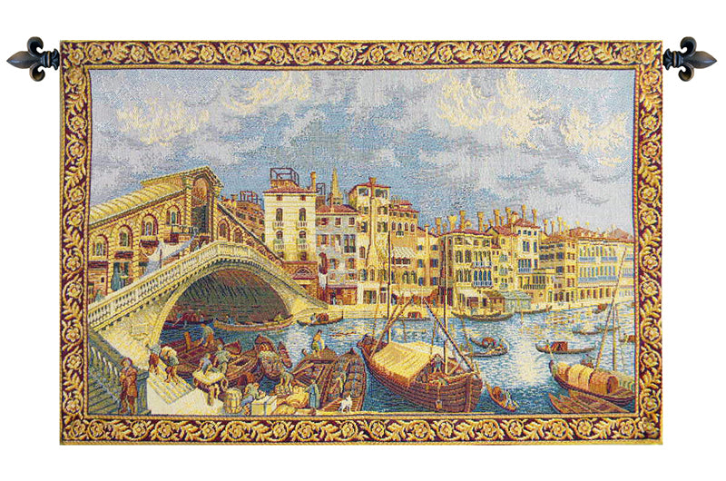 Ponte di Rialto Italian Wall Tapestry - Tapestry Zest