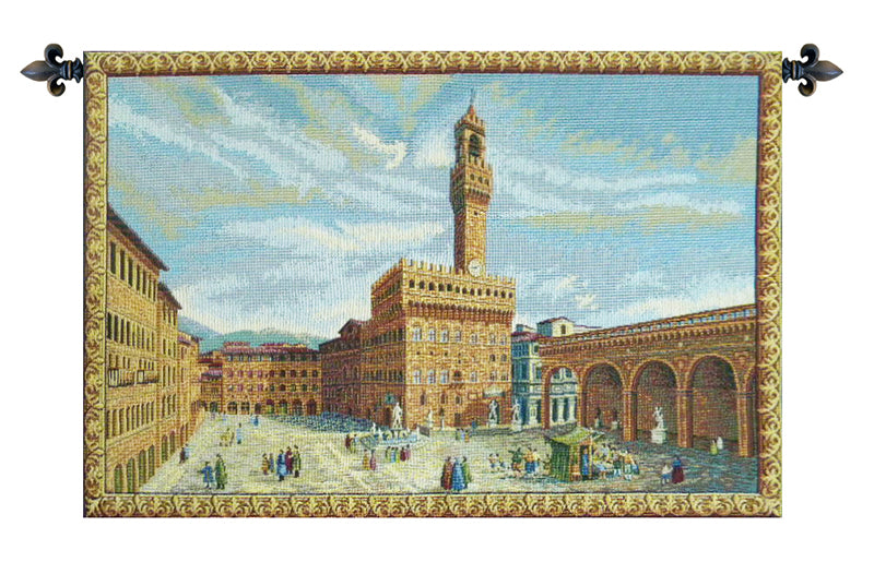 Palazzo Vecchio Firenze Italian Wall Tapestry - Tapestry Zest