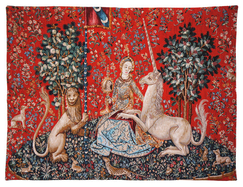 La Vue Lady and the Unicorn French Wall Tapestry - Tapestry Zest