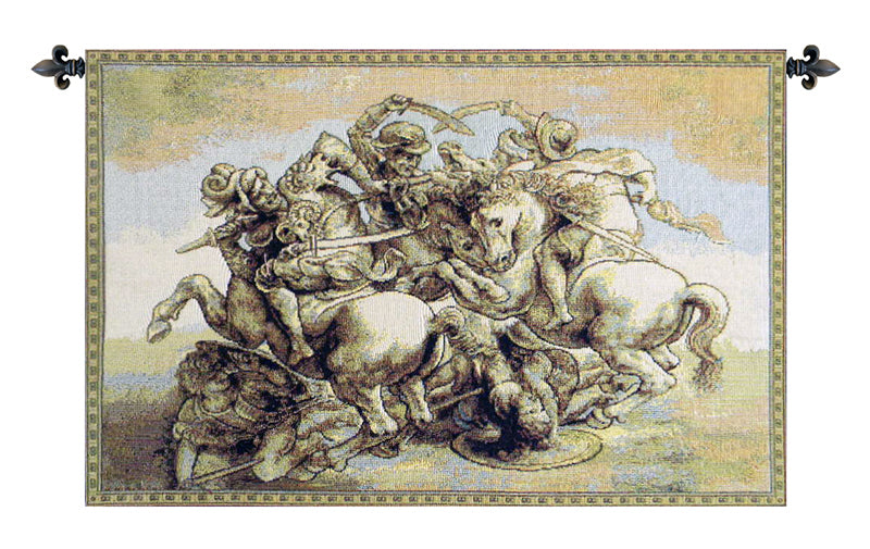 The Battle of Anghiari Italian Wall Tapestry - Tapestry Zest