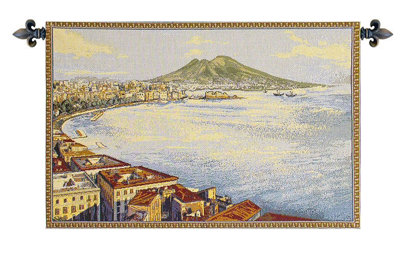 Gulf of Naples Italian Wall Tapestry - Tapestry Zest