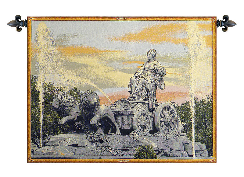 Cibele Madrid Fountain Italian Wall Tapestry - Tapestry Zest