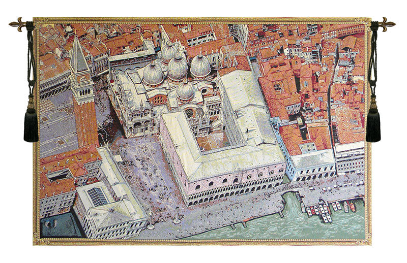Venice from Above Italian Wall Tapestry - Tapestry Zest