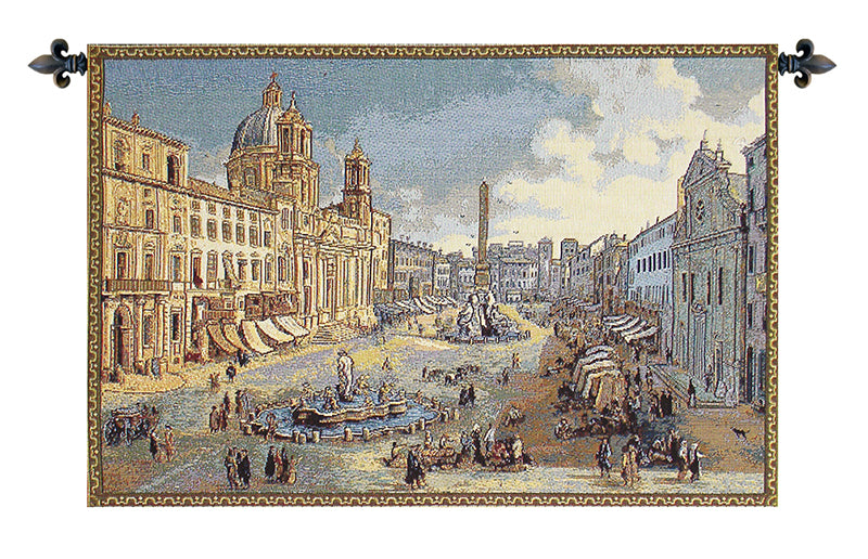 Navona Square Italian Wall Tapestry - Tapestry Zest