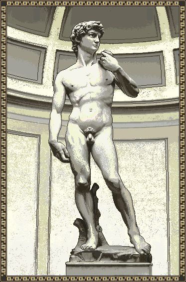 Statue of David Italian Wall Tapestry - Tapestry Zest