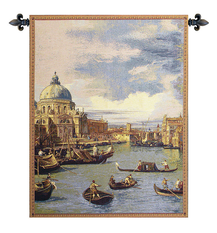 Saint Mary of Health and the Grand Canal Vertical Italian Wall Tapestry - Tapestry Zest